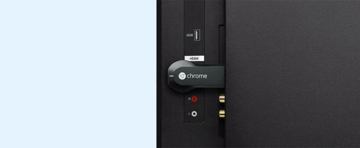 http://www.estrategiadigital.pt/chromecast/ - Disponível no mercado desde julho de 2013, o Chromecast é um adaptador com o tamanho de uma pen. A ideia é simples, basta ligá-lo à televisão para que possa estabelecer uma conexão via streaming entre o aparelho e o seu telemóvel.