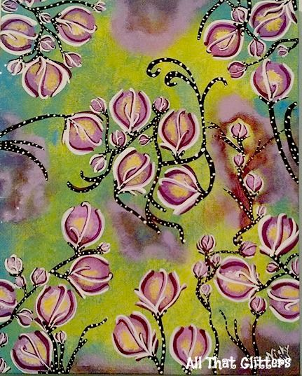 """8x10 acrylic canvas Titled """"Flowers for Alice"""" https://www.facebook.com/allthatglitters1234"""