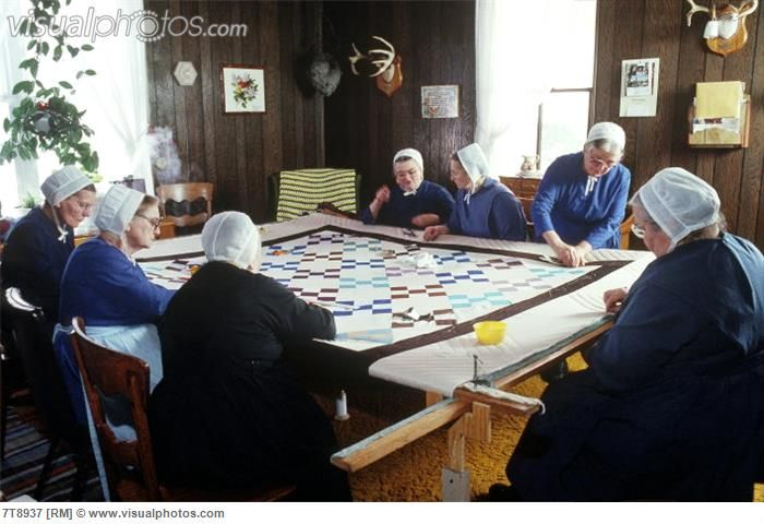 Amish Women Quilting