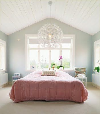 Vaulted ceiling bedroom and Ikea Maskros