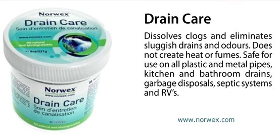 A clogged drain is a dirty drain. Shower, tub, and bathroom sink drains can become clogged with hair, soap residue, toothpaste, or just about anything. Regular Drain maintenance is important. Norwex Drain Care dissolves clogs, eliminates slow drains and odors from disposals. Enzymes and microbes breakdown and digest fats, oils, greases and food waste in kitchens and hair and toiletry buildup in bathroom drains. Norwex #Drain Care -tip from our Facebook Business Timeline…