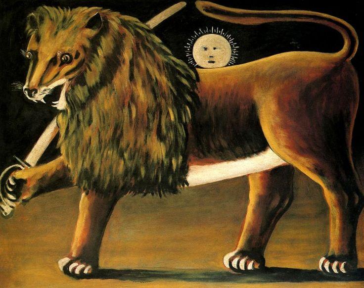 Lion and Sun. Niko Pirosmani.
