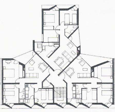 José Antonio Coderch - Conjunto de viviendas La Maquinista, Barcelona (1951)
