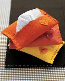 I'm looking for simple sewing projects for my two granddaughters who are six-years-old.  This will be a perfect craft for them to practice  hand sewing simple running stitches.  Then they can give them as gifts!   -----Use  felt because the edges won't fray. And since this project doesn't require a lot of fabric, it's perfect for using up scraps and stray buttons.