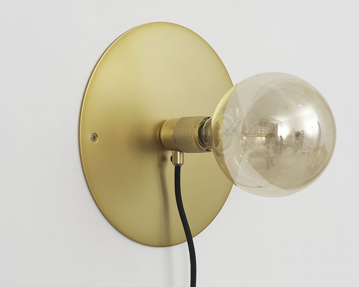 E27 Wall Light with Atelier Clear Globe Bulb   Brass   Design by Frama   Photographed by Michael Falgren