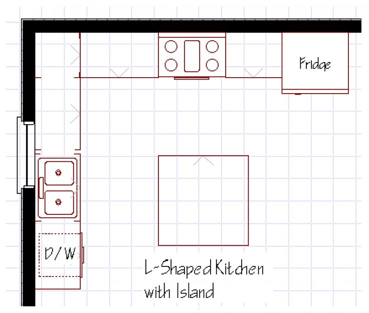 Best 25+ Kitchen layouts with island ideas on Pinterest | Kitchen layouts, Kitchen  layout design and Kitchen planning
