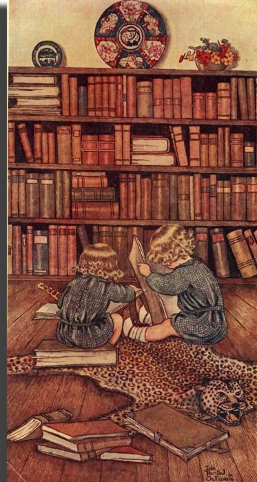 lost in a book~: Libraries, Reading, Readers And Books, Fairies, Outhwait Artists, Ida Rentoul Outhwait, Children Books, Rentoul Outhwaite, Elves