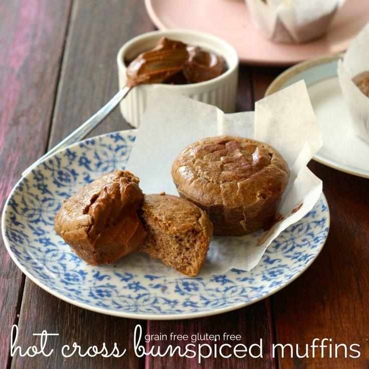 2grain free gluten free hot cross bun spiced muffins