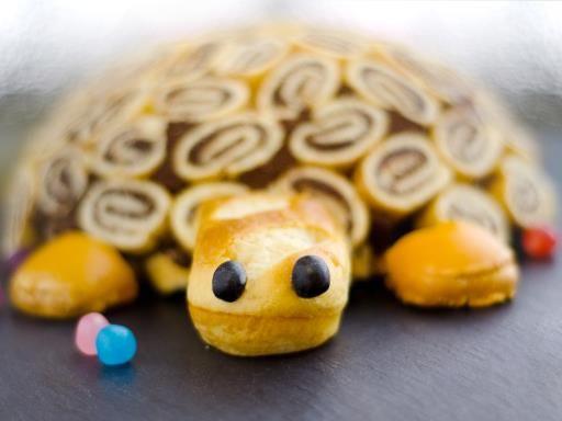 Charlotte la tortue poire chocolat - Recette de cuisine Marmiton : une recette