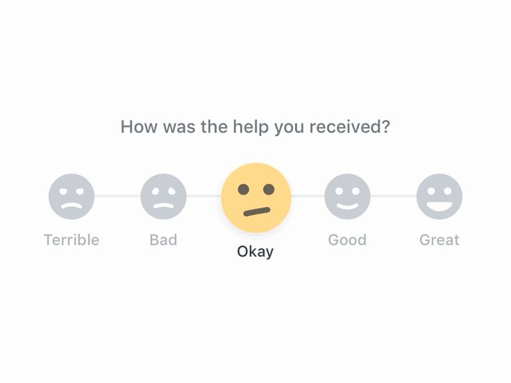 Built a component for providing feedback. Had a lot of fun with a bunch of small details, particularly tweening the facial expression. Try out a live version here (much smoother than the GIF and a...
