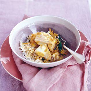 Rezept von Anjum Anand: Duftendes Fischcurry mit Kokosmilch / Valentinas Kochbuch