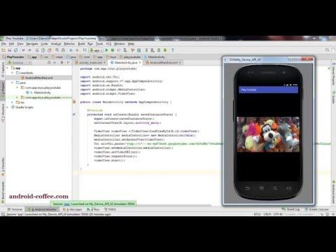 Tutorial how to play Youtube video in Android Studio 1.5