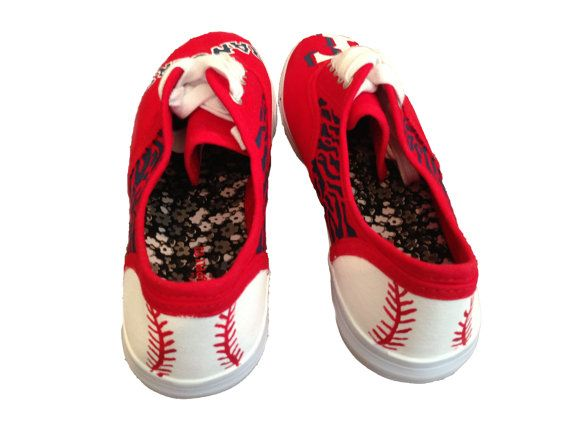 Customized Texas Rangers Sneakers by CooperAveryDesigns on Etsy, $45.00