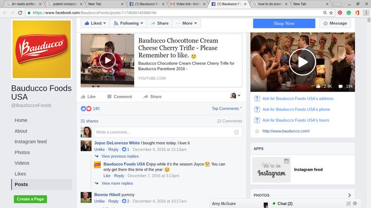 Me (Trish Walters) Making My original recipe on left of screen, and Buddy Valastro the Cake Boss on the right of screen. December 2016 Cake Boss Contest- Bauducco Foods USA Featured my Recipe.