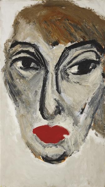 Karel Appel, Portrait of Nina Abrams, 1964