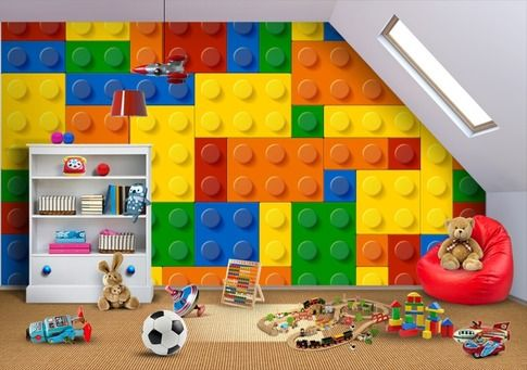 Inspire Your Kids With Our Lego Land Custom Wallpaper Kids Bedroom Mural Inspiration Pinterest Kid Print And Lego
