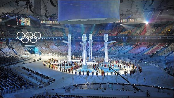 Olympics 2010 significant events - This was the first Olympic opening ceremony to be held indoors.