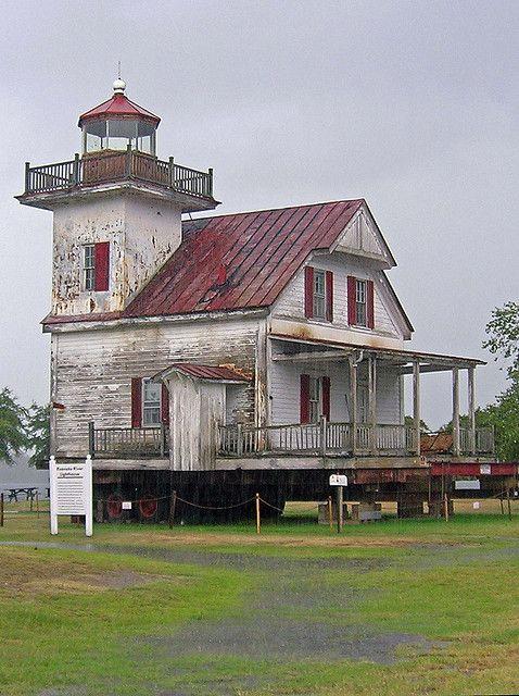 Roanoke River Lighthouse, Edenton, North Carolina by Karl Agre, M.D., via Flickr
