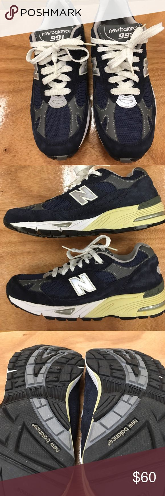 New Balance 991 men's running shoes SL-1 Fit. Size 8.5. Abzorb USA. Ndurance. Really nice soles, only worn a few times. New Balance Shoes Athletic Shoes