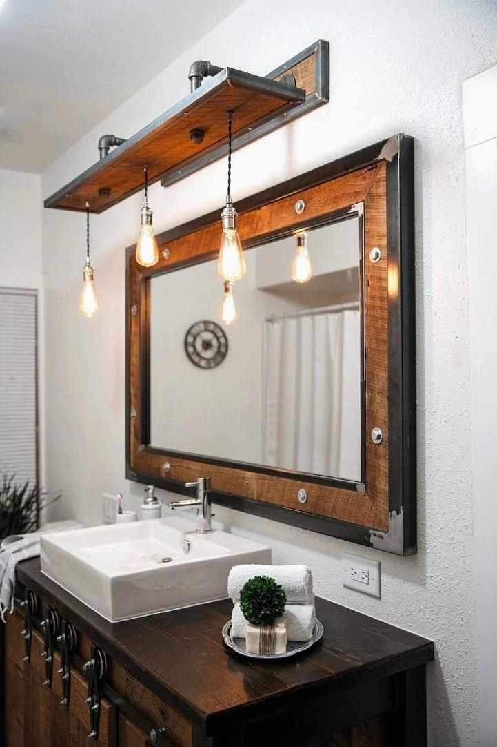 12 Beautiful Industrial Bathroom Renovation Ideas To Complement Your Apartment Industrial Vanita Bagno Rustico Decorazione Industriale Rustica Casa Rustica