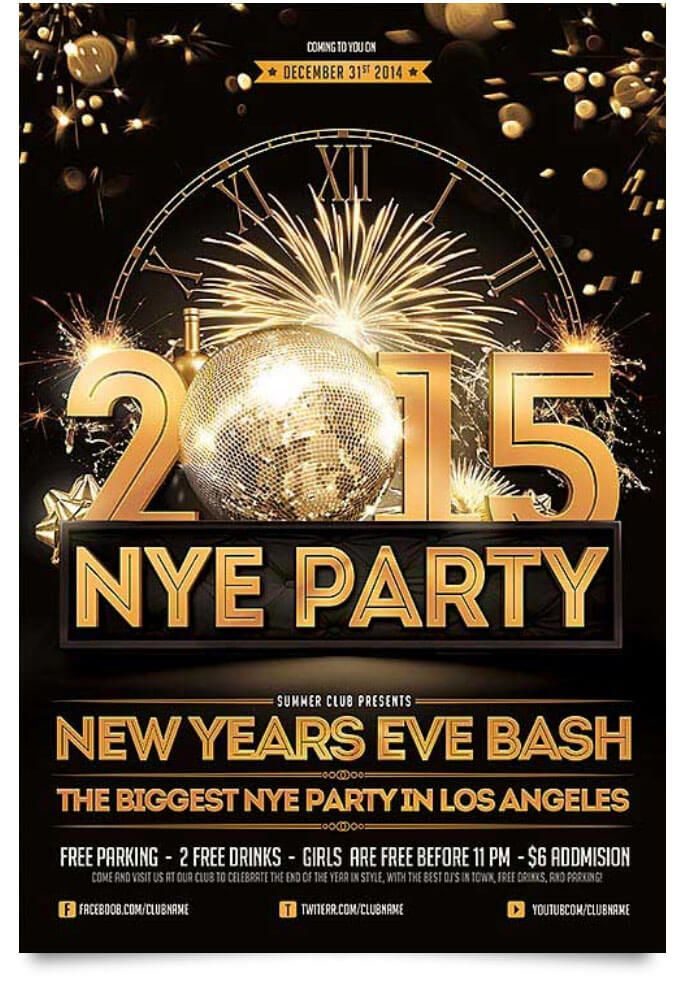 29 Free New Year Flyer Templates In Psd Vector Ai Tech Trainee New Year S Eve Flyer Free Psd Flyer Templates Party Flyer