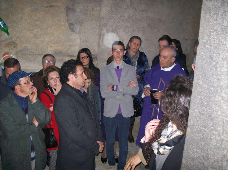 Valguarnera 22 marzo 2014 - Inaugurazione della Casa Museo Caripa. Benedizione del parroco  sac. Agatino Acireale