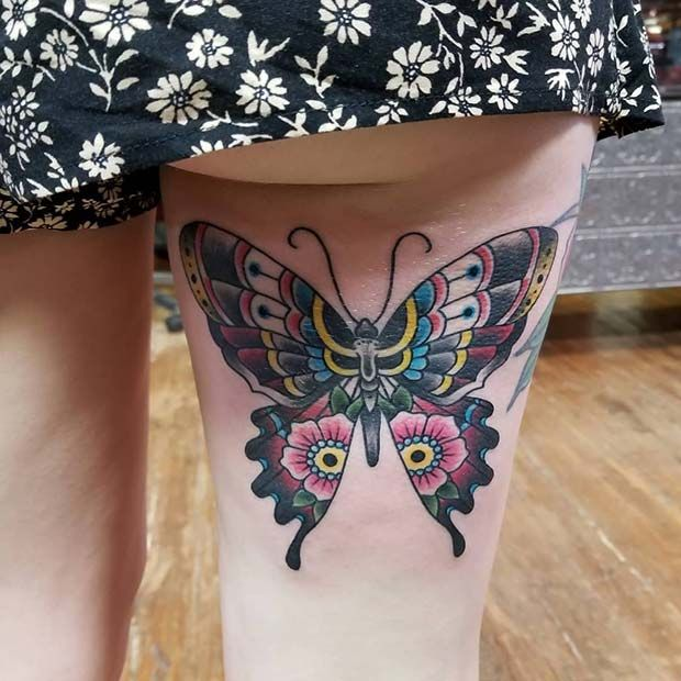 10 Back Of Thigh Tattoo Ideas For Women Back Of Thigh Tattoo