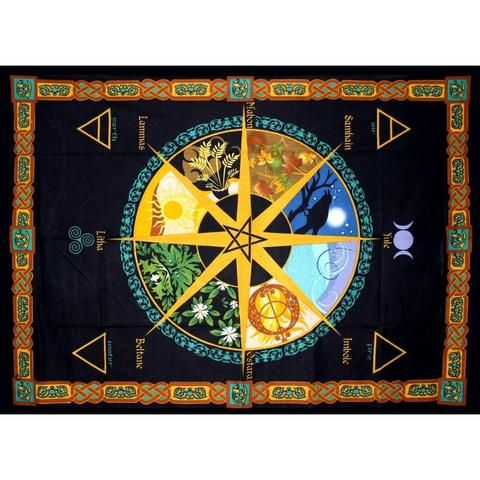Pagan Calendar Tapestry - The Hippie House
