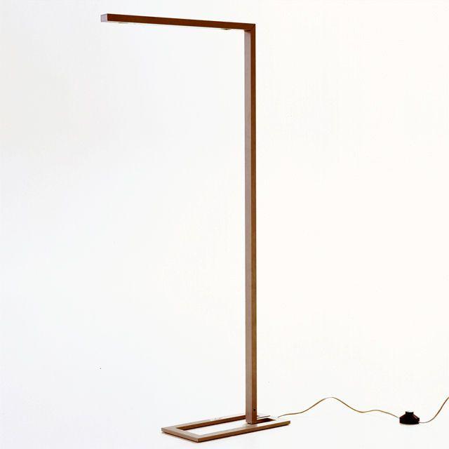 Floor standing lamp / contemporary / aluminium / swing arm - DRAAD by Bernard Moïse - CINNA