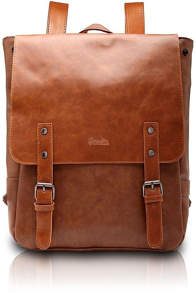 Womens Vintage Leather Backpack School College Book Bag 15-inch Laptop  Rucksack  bookbag  backpack 8a1cde1ad57ba