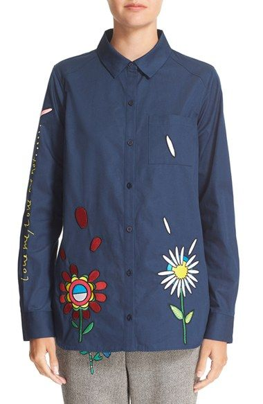 Mira Mikati 'Love Me' Embroidered Shirt