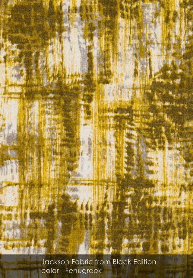 Jackson fabric from Black Edition in Fenugreek