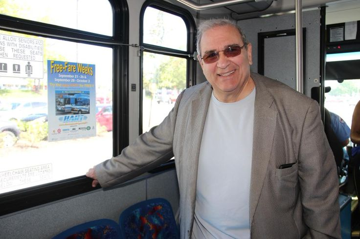 Ride HART Bus for free the next two weeks! Here is Supervisor Petrone on the H10 greeting riders.