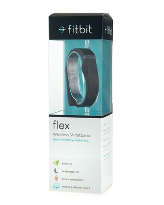 Fitbit+Wristband,+Black+by+Fitbit+at+Neiman+Marcus.-Fitbit Fitbit Wristband, Black Tracks steps, distance, calories burned, and active minutes. Monitors how long and how well you sleep. Wakes you (and not your partner) with a silent wake alarm. LED lights show how your day is stacking up against your goal. Easy-to-wear, slim, comfortable wristband.