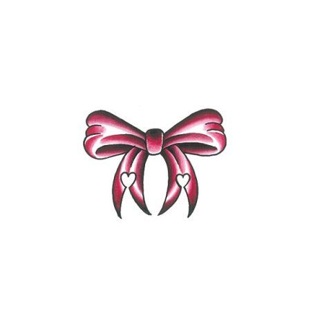 Tattify Pink Bow Temporary Tattoo - Prim and Proper (Set of 2)