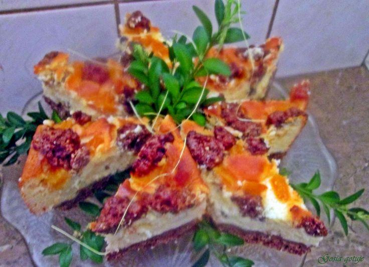 Gosia gotuje...: Sernik z bitą śmietaną