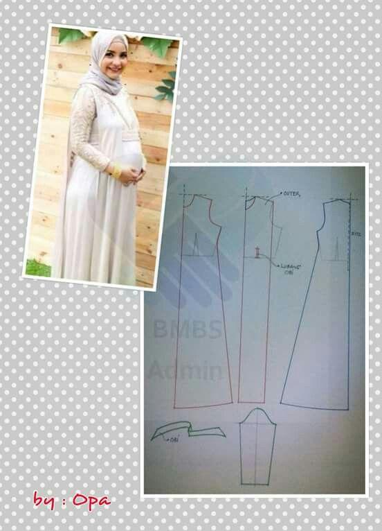 Maternity hijab dress