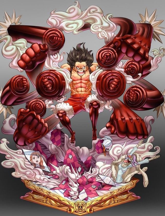 Luffy isn t one to brag but fans of the pirate are more than happy to coo over him anyways. Luffy Gear 4 Snake Man Drawing Peepsburgh