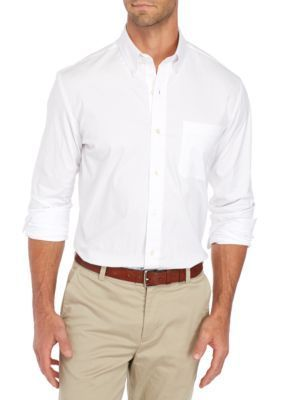 Saddlebred Men's Long Sleeve Stretch Oxford Shirt - White - 2Xl