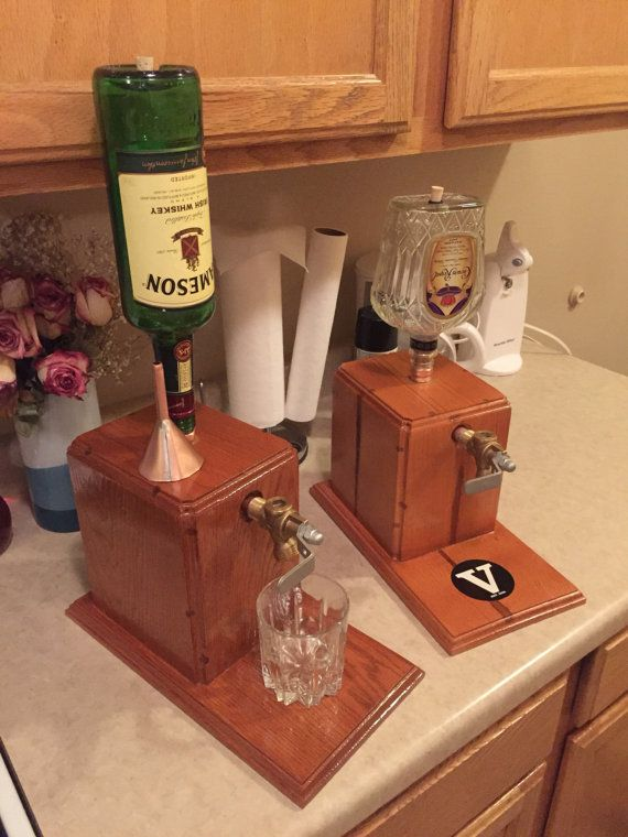 Liquor Dispenser With Bottle by ManMadeForManCave on Etsy