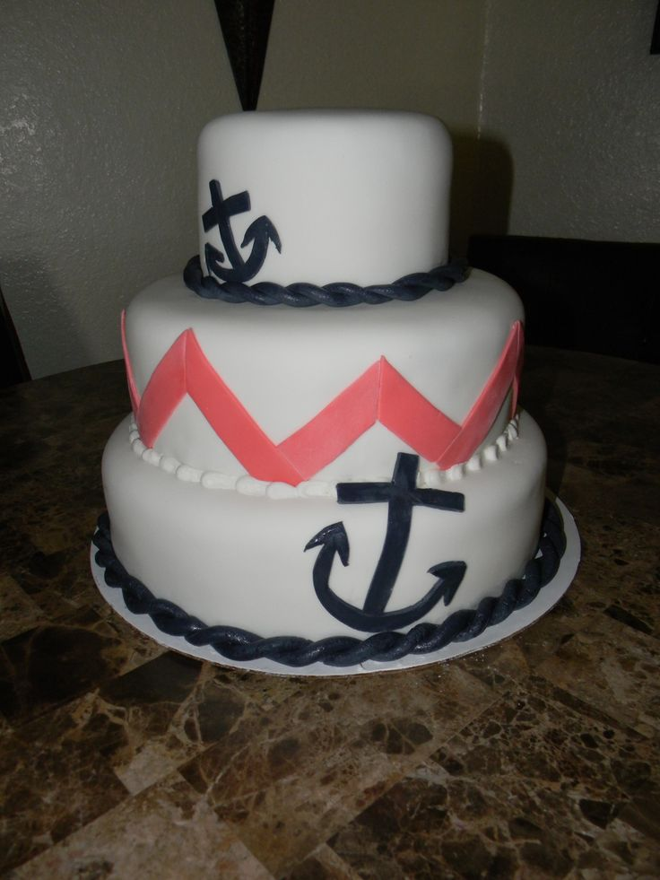 25 Best 17th Birthday Ideas Images On Pinterest Nautical Cake