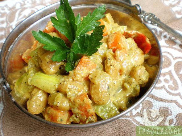 Индийское блюдо «Карри с овощами» рецепт с фото по ссылочке: http://tako-tako.ru/recipe/ovoshhnoe-karri