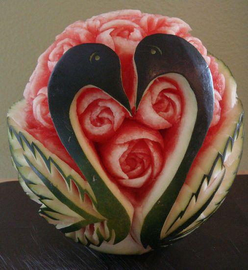 watermelon art. Beautiful!