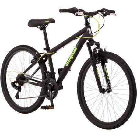 24 inch Mongoose Excursion Boys' Mountain Bike, Multicolor