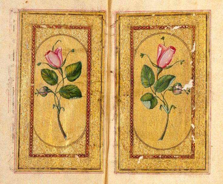 Osmanlı'da Gül tasvirciliği  Müzzehip: Abdullah Buhari Tezhip: Topkapı Saray Nakkaşhanesi Yıl: 18. Yüzyıl
