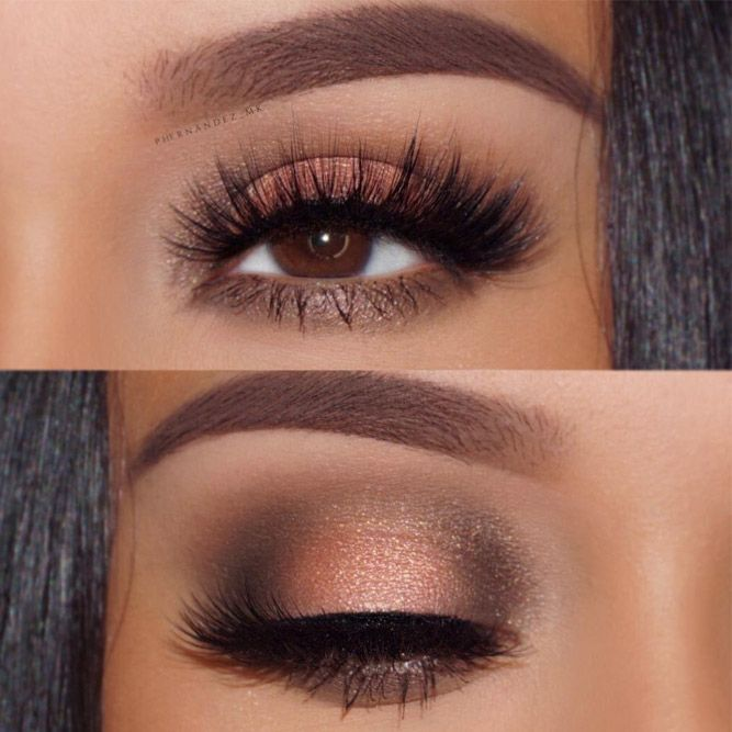 Pick the best combination of eyeshadow for brown eyes, and you will be the queen in every room you enter. Check out our photo gallery.