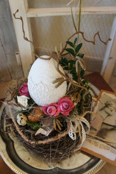 """Shabby Osterdeko """" Ein Nest zum träumen...."""" von Hoimeliges..... auf DaWanda.com"""