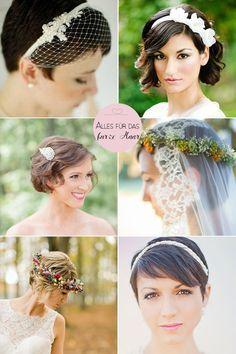 Ihr habt es nicht leicht Ihr lieben kurzhaarigen Bräute, ich weiß. Wo man hinschaut haben Damen in Brautkleidern tolle, lange Mähnen, die gekonnt hochgesteckt oder perfekt gewellt sind. Schöne wallende Hochzeitswelt… Dabei können kurze Haare so herrlichfrech, romantisch, edel und chic aussehen!Auch als Braut werde Ihr einen Look finden, der nach Hochzeit aussieht, wenn Ihr …
