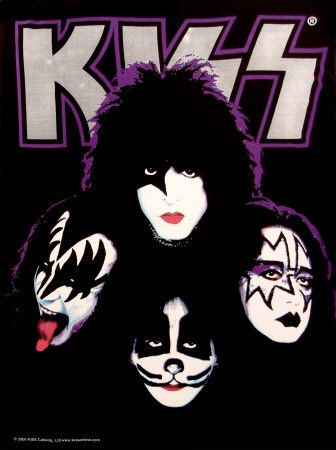 KISS - Four Faces Poster