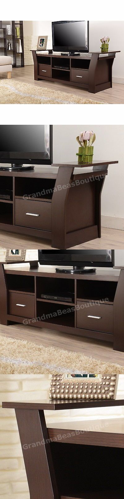 Entertainment Units TV Stands: Tv Stand For Flat Screens 50 55 60 65 Entertainment Center Console Media Cabinet -> BUY IT NOW ONLY: $208.88 on eBay!
